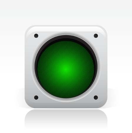 semaphore: Vector illustration of single isolated traffic light icon Illustration
