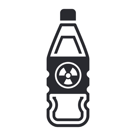 nuclear waste: Single isolated vector illustration of nuclear waste in bottle