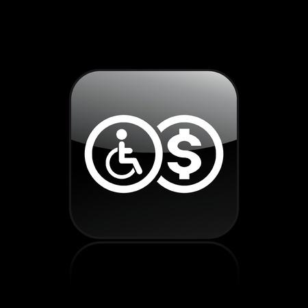 reimbursement: Vector illustration of single isolated handicap reimbursement icon Illustration