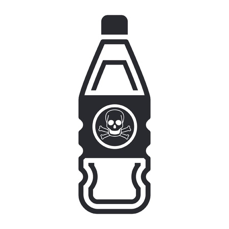 Vector illustration of single isolated dangerous bottle icon Stock Vector - 12122491