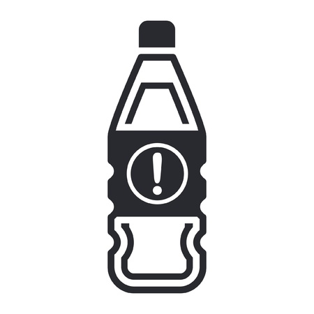 Vector illustration of single isolated dangerous bottle icon Stock Vector - 12121925