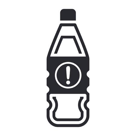 Vector illustration of single isolated dangerous bottle icon Stock Vector - 12121925