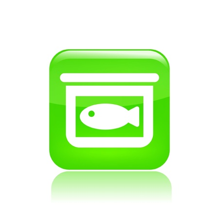 Vector illustration of single canned fish single isolated icon