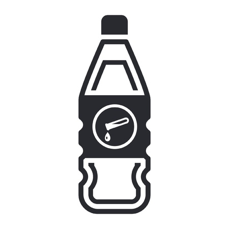 Vector illustration of single isolated dangerous bottle icon Stock Vector - 12121946