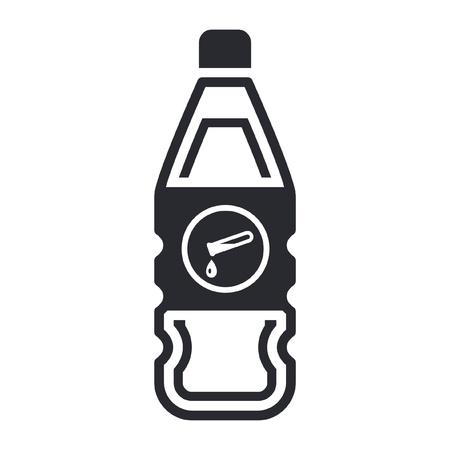 Vector illustration of single isolated dangerous bottle icon Stock Vector - 12121946