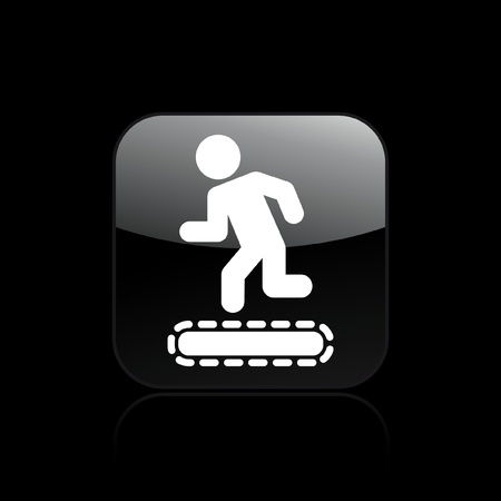 tapis: Vector illustration of treadmill single isolated icon
