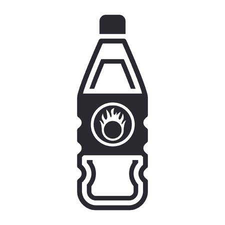Vector illustration of single isolated dangerous bottle icon Stock Vector - 12121948