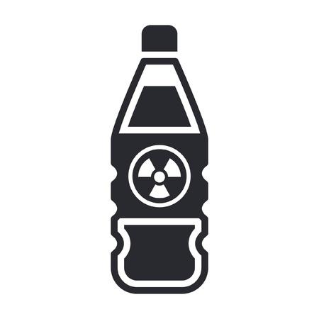 Vector illustration of single isolated dangerous bottle icon Stock Vector - 12121835