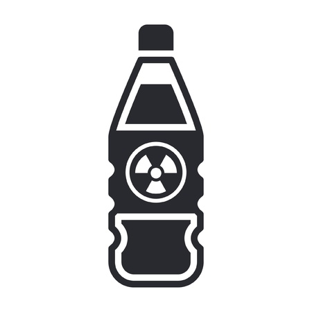 Vector illustration of single isolated dangerous bottle icon Stock Vector - 12121835