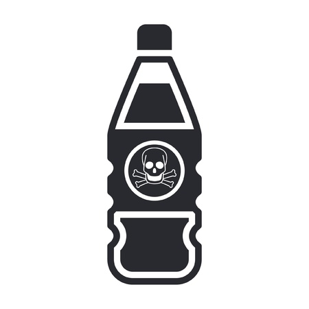Vector illustration of single isolated dangerous bottle icon Stock Vector - 12122447