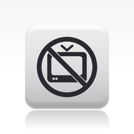 censorship: Vector illustration of single isolated fobidden TV icon