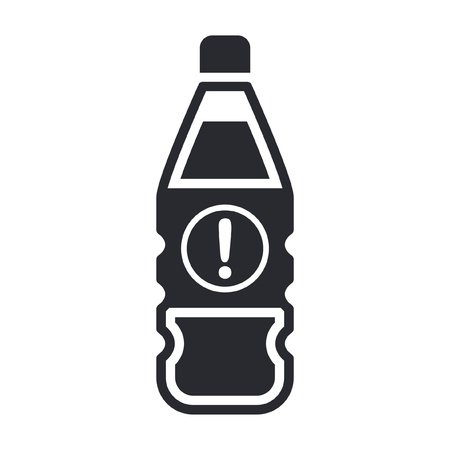Vector illustration of single isolated dangerous bottle icon Stock Vector - 12121838