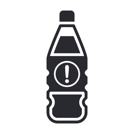 Vector illustration of single isolated dangerous bottle icon Stock Vector - 12121838