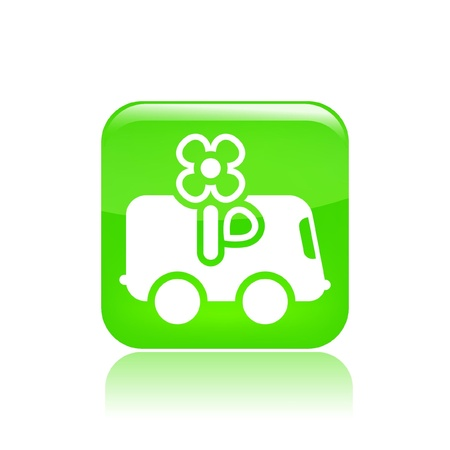 Vector illustration of single isolated flower delivery icon Stock Vector - 12123322