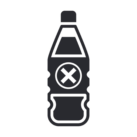 Vector illustration of single isolated dangerous bottle icon Stock Vector - 12121786