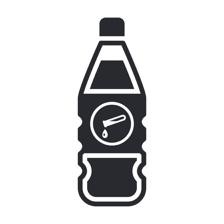 Vector illustration of single isolated dangerous bottle icon Stock Vector - 12121840