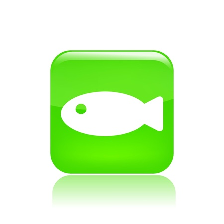 fisheries: Vector illustration of single isolated fish icon