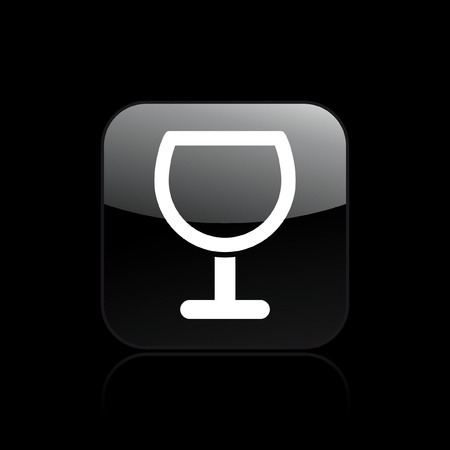 ampulla: Vector illustration of single isolated glass icon