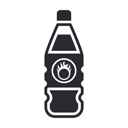 Vector illustration of single isolated dangerous bottle icon Stock Vector - 12121845