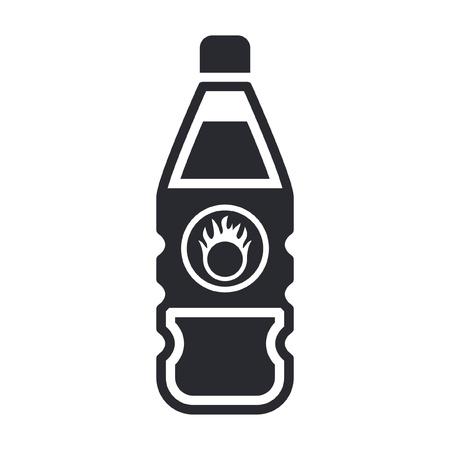 Vector illustration of single isolated dangerous bottle icon Stock Vector - 12121845