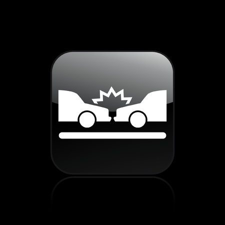Vector illustration of single isolated car crash icon Vector