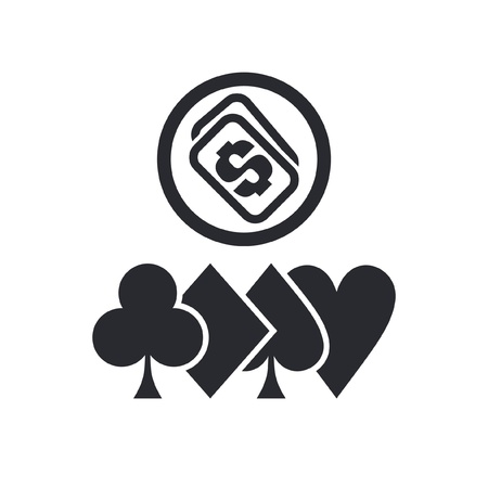 hold'em: Vector illustration of single isolated poker icon Illustration