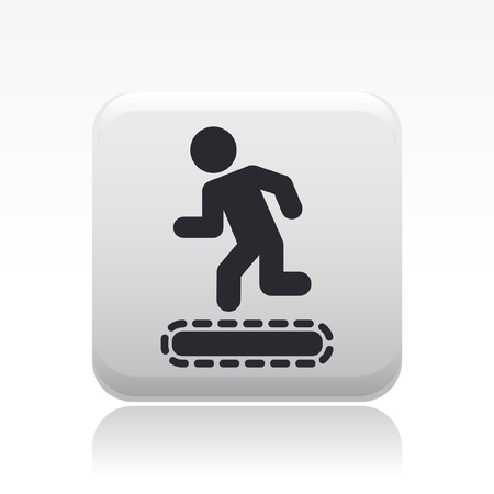 Vector illustration of single isolated tapis roulant icon