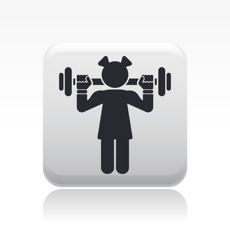 Vector illustration of single isolated gym girl icon Stock Vector - 12119931