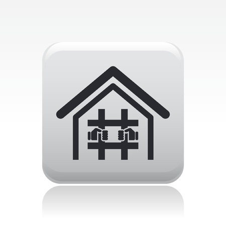 convicted: Vector illustration of single isolated prison icon Illustration