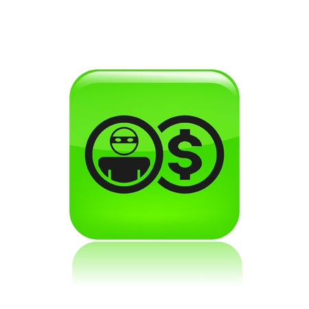 Vector illustration of single isolated thief money icon Vector