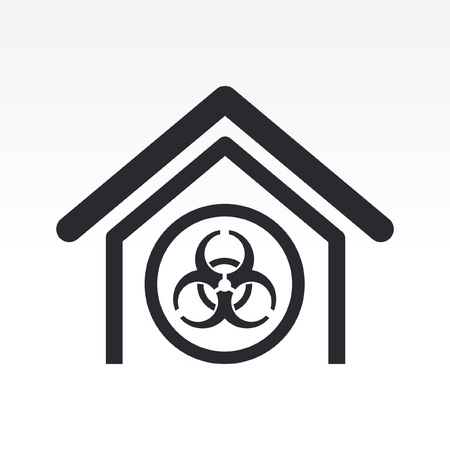 Vector illustration of single isolated biological danger icon Stock Vector - 12119541