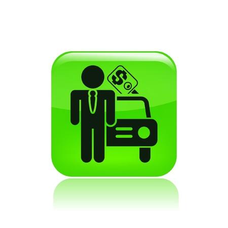 car showroom: Ilustraci�n vectorial de un solo icono aislado venta de coches Vectores
