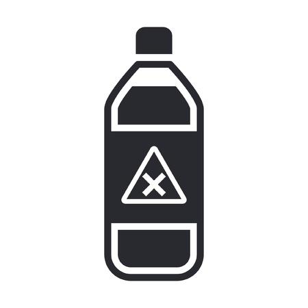 Vector illustration of single isolated dangerous bottle icon Stock Vector - 12119816