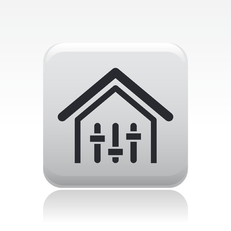 potentiometer: Vector illustration of single isolated house levels control icon