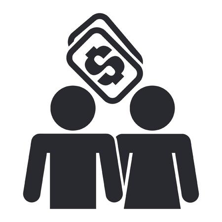 prostitue: Vector illustratie van enkele geïsoleerde prostitutie concept van het pictogram Stock Illustratie