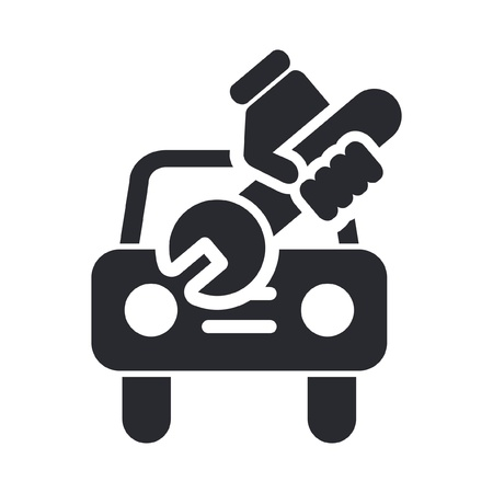 Vector illustration of single isolated car repair icon Stock Vector - 12121872