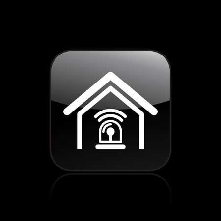 burglar alarm: Vector illustration of single isolated home alarm icon