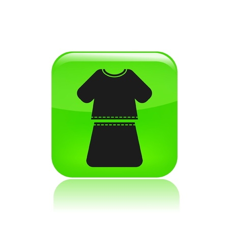 Vector illustration of single isolated girl dress icon Stock Vector - 12123337