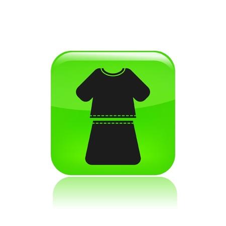 miniskirt: Vector illustration of single isolated girl dress icon
