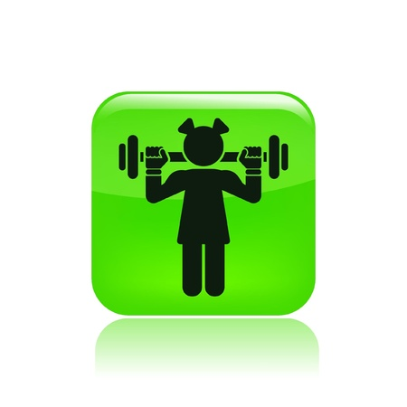Vector illustration of single isolated gym icon Stock Vector - 12123560