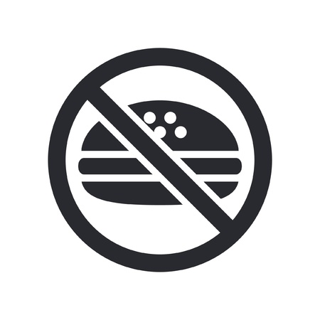 exclude: Vector illustration of single isolated food icon Illustration