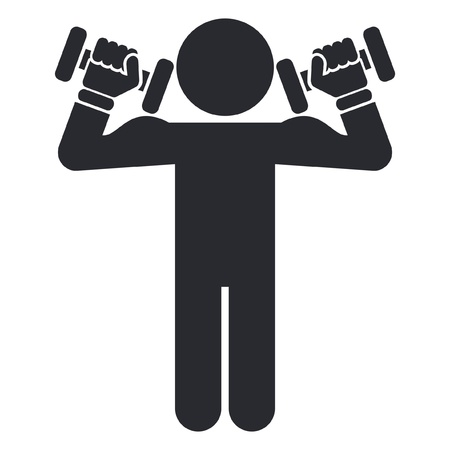Vector illustration of single isolated gym icon Vector