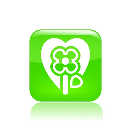 passion ecology: Vector illustration of single isolated flower passion icon