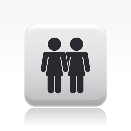 Vector illustration of single isolated lesbian icon Stock Vector - 12121716