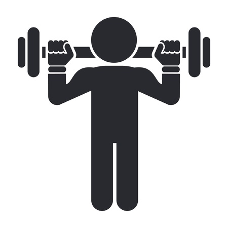 muscle training: Vector illustration of single isolated gym icon