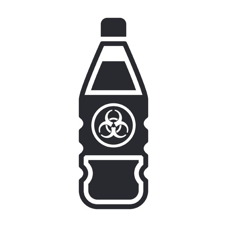 Vector illustration of single isolated dangerous bottle icon Stock Vector - 12121886