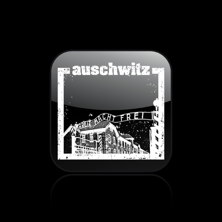 Vector illustration of single isolated auschwitz icon Stock Vector - 12123880