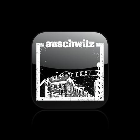 Vector illustration of single isolated auschwitz icon Stock Vector - 12123880