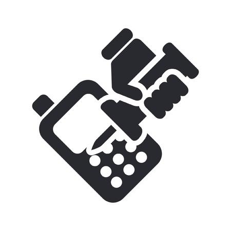 reparations: Ilustraci�n vectorial de un solo icono aislado de reparaci�n de tel�fonos