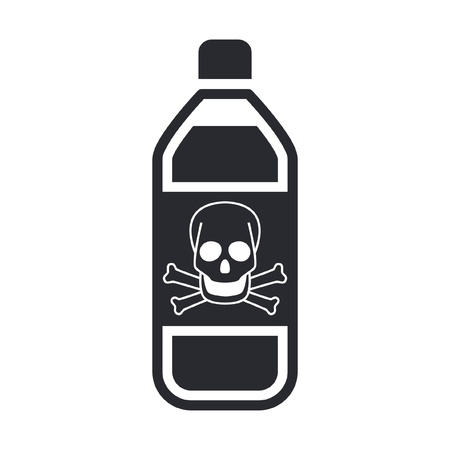 Vector illustration of single isolated dangerous bottle icon Stock Vector - 12119869